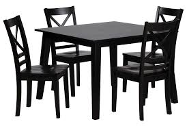 Living Spaces Dining Table Set by Sandy Espresso 5 Piece Square Dining Set Living Spaces In Square Dinette Sets Jpg
