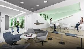 dentagram dental polyclinic interior waiting area slasharchitects