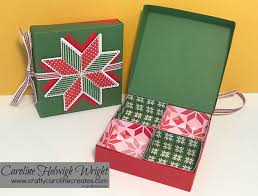 craftycarolinecreates quilted christmas partitioned gift box