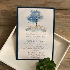 tree wedding invitations navy blue tree layered wedding invitations ewli021 as low