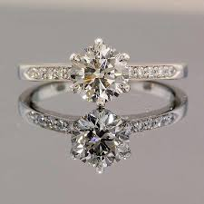 6 prong engagement ring classic 6 prong pave engagement ring winkcz