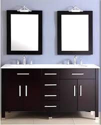 Amazoncom  Inch Espresso Double Basin Sink Bathroom Vanity Set - Bathroom vanitis 2