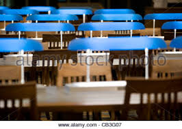 Library Table Lamps Empty Seats In Row At Library Stock Photo Royalty Free Image