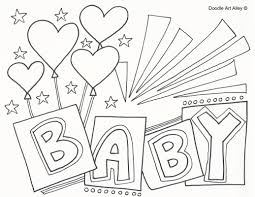 coloring baby free printable baby shower coloring pages