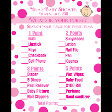 24 personalized baby shower game cards what u0027s in your