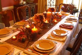 brown white decorating table for thanksgiving mixed carved