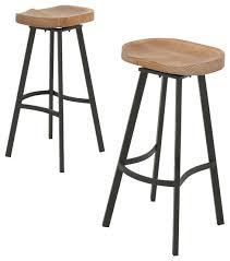 Mango Wood Bar Stools Shea Wood And Iron Swivel Bar Stools Set Of 2 Rustic Bar