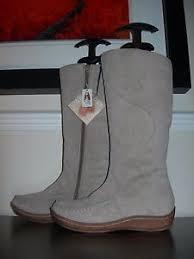 s boots calf length hush puppies s boots calf length flats taupe suede eu size