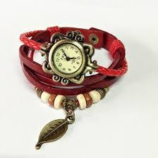 leaf charm bracelet images Jewels wrap watch watch watch vintage style charm bracelet jpg