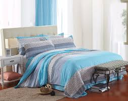 cheap teen bedding with aqua and gray queen size comforter set