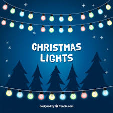 background with christmas lights vector free download