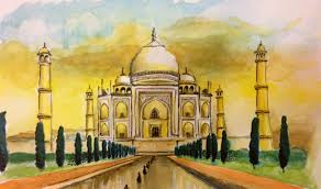 paint places 11 colourful arty visions of the taj mahal wanderarti