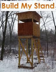 free deer shooting house plans design diy build stand