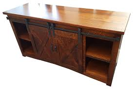 Tv Bench Sideboard Tv Cabinet Sliding Barn Door Tv Stand Industrial Entertainment Centers