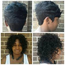 2 different looks short hair u003dquick weave curly do u003d sew in with