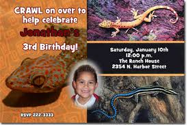 lizard birthday invitations candy wrappers thank you cards