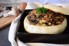 cuisiner un patisson blanc pâtisson farçi aux chignons et au bleu calendrier de l avent