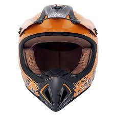 mens motocross helmets fastrack motocross helmet men u0027s orange l amazon in car