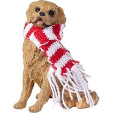 amazon com sandicast golden retriever with red and white scarf