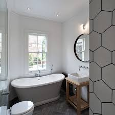 Herringbone Bathroom Floor by Herringbone Floor Tile Bathroom Contemporary With Rolltop Bath