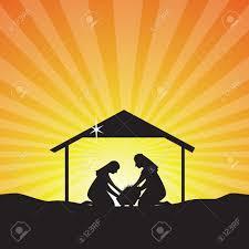 baby jesus born silhouette nativity scene of baby jesus in the