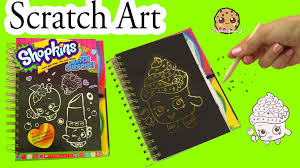 shopkins sketch surprise scratch drawing art book limited