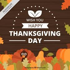 thanksgiving day background with a turkey and leaves vector free