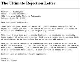 Rejection Letter To Candidate the way of improvement leads home candidate rejects his