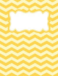 brown and white chevron binder cover free printable binder cover