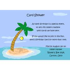palm tree card shower invitations for special occasions