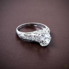 antique engagement ring settings vintage platinum and diamond engagement rings with pave settings