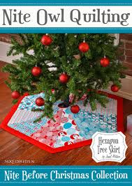 nite before christmas hexagon tree skirt pdf pattern i can u0027t