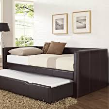 full daybed with trundle designs and pictures homesfeed black leather frame daybed with trundle in extra size