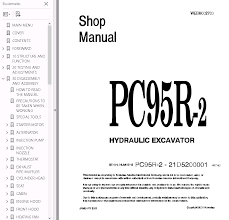 komatsu hydraulic excavator pc95r 2 pdf set of manuals repair