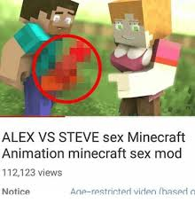 Minecraft Meme Mod - alex vs steve sex minecraft animation minecraft sex mod 112123 views