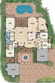 house plans with pool house plans with pool mansion floor mediterranean center courtyard