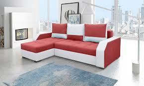 canapé blanc d angle canapé d angle universel transformable en lit en tissu et pu