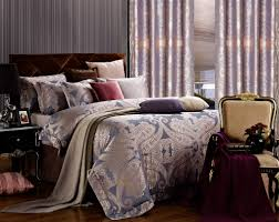 dolce mela jacquard damask luxury bedding queen duvet cover set dm478q