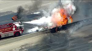 Fires Near Denver Map by Photos Fuel Tanker Fire Shuts Down I 25 Near Denver Tech Center