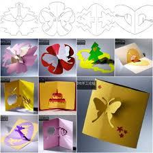 wonderful diy 3d kirigami cards with 18 templates kirigami