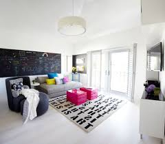 modern family room with chalkboard wall design rooms with