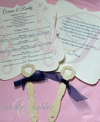 wedding program fan wording diy fan programs crafthubs