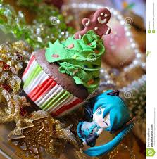 Anime Christmas Tree Ornaments Christmas Cupcake Character Cartoon Hatsune Miku Anime Editorial