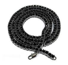 black rope chain necklace images 1 row black diamond hip hop chain necklace jewelzking jpg