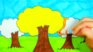autumn tree drawing for kids youtube