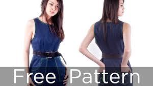 jumpsuit stitching pattern make a dress part 1 free sewing pattern from angela kane youtube