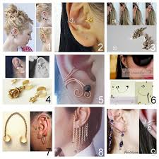 how to make feather ear cuffs all different types of diy ear cuffs stuff i want to make