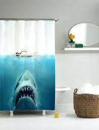 shark shower curtain pottery barn shark shower curtain shooting bear ride surf week target