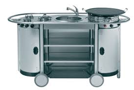 cuisine mobile stainless steel kitchen mobile outdoor with handles bongos