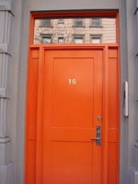 current obsession coloured doors orange colored front doors